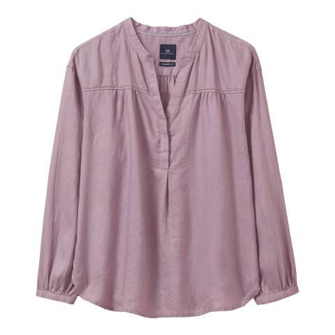 Crew Clothing Purple Cleo Linen Shirt