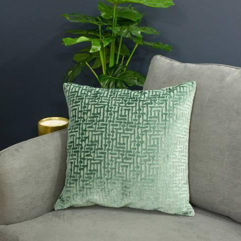 Paoletti Delphi Cushion 45x45cm, Mint