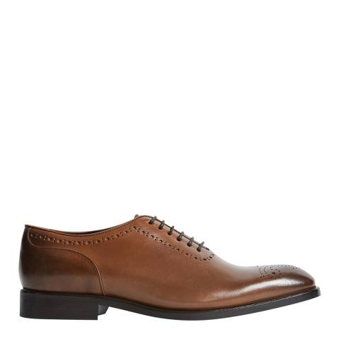 Reiss Mid Brown Alder Leather Brogues