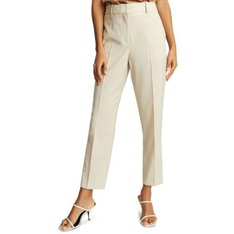 Reiss Stone Tanya Slim Wool Blend Trousers