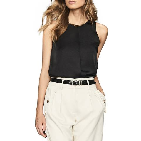 Reiss Black Martine Top