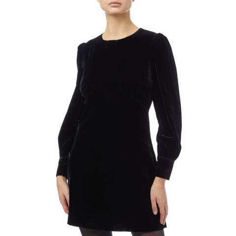 Reiss Black Blanca Long Sleeve Dress