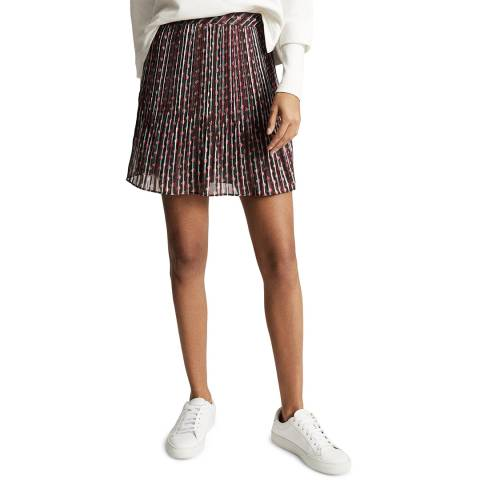 Reiss Multi Alani Geo Pleat Skirt