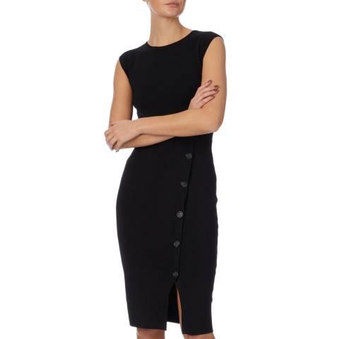 Reiss Black Sasha Knit Bodycon Dress