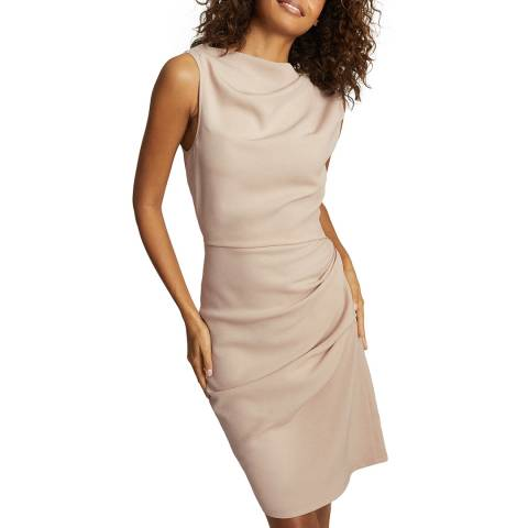 Reiss Nude Bali Ruched Dress