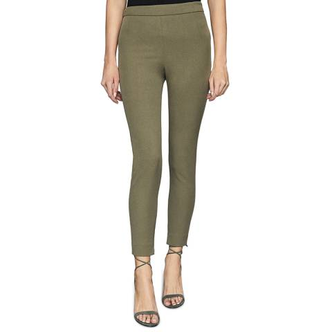Reiss Khaki Tyne Skinny Stretch Trousers