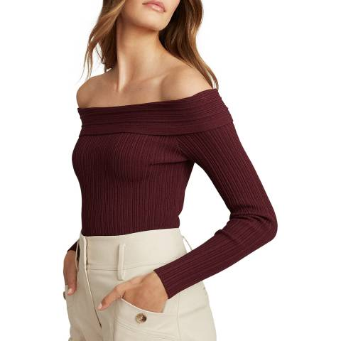 Reiss Berry Bardot Fitted Jumper