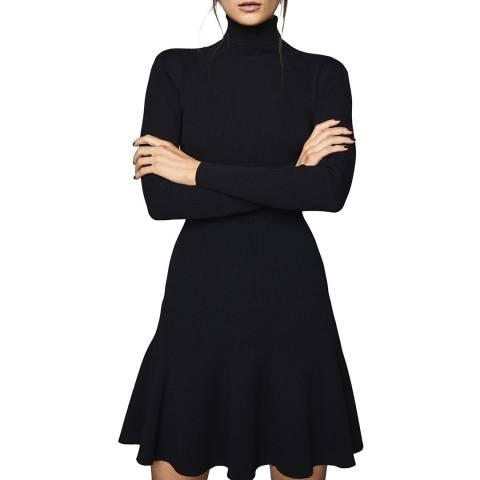 Reiss Navy Mimi Flippy Knit Dress