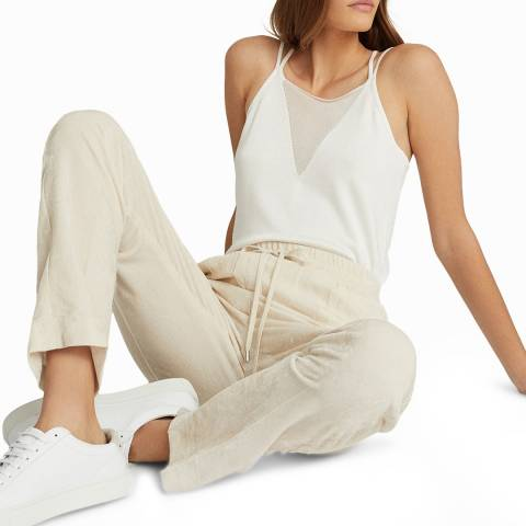 Reiss White Darcy Knit Top