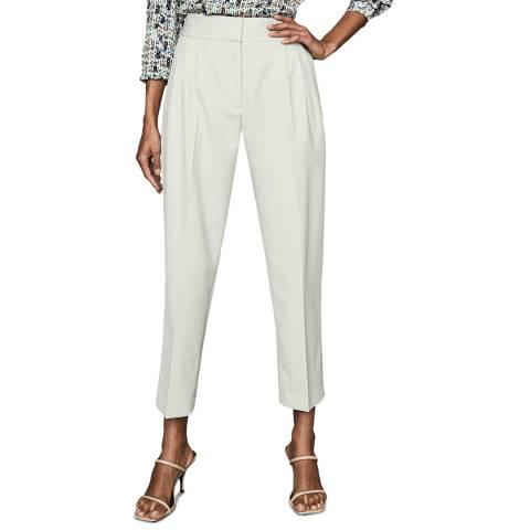Reiss Mint Mimi Tapered Wool Blend Trousers