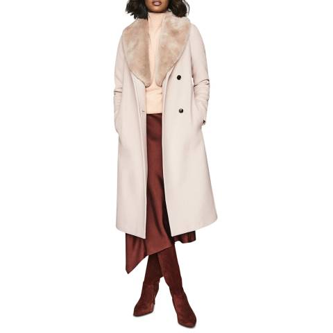 Reiss Nude Dawson Wool Blend Coat