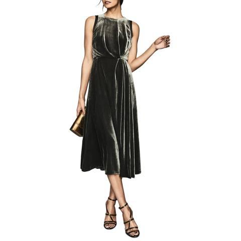 Reiss Charcoal Eudora Midi Dress