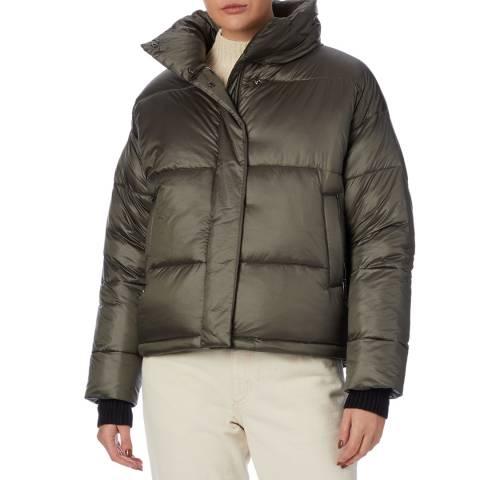 Reiss Khaki Freja Puffer Coat