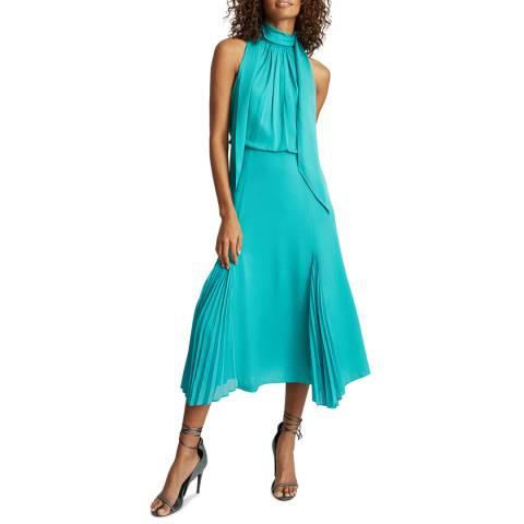 Reiss Teal Jenna Midi Dress