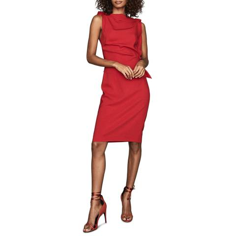 Reiss Red Robyn Ruffle Dress