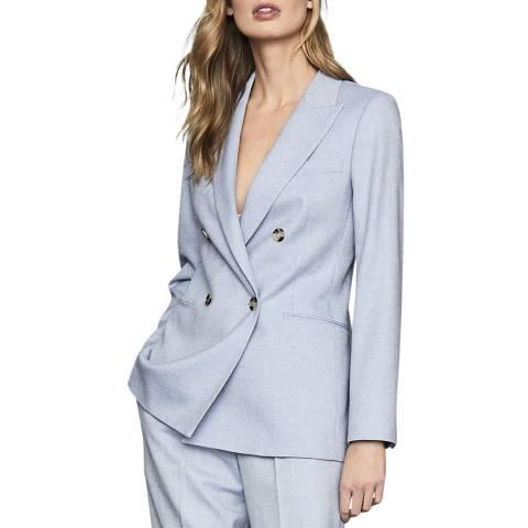 Reiss Blue Lauren Wool Blend Blazer
