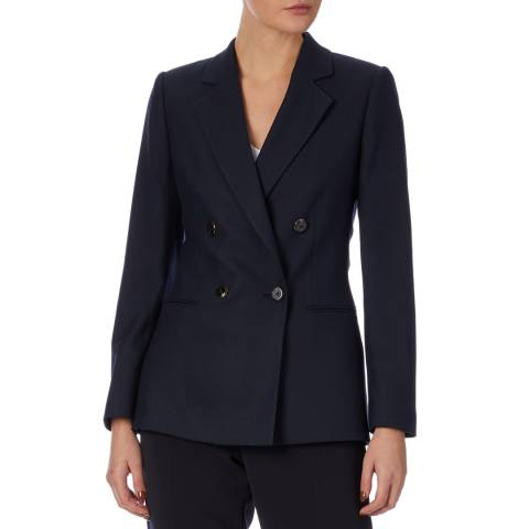 Reiss Navy Andrea Double Breasted Blazer