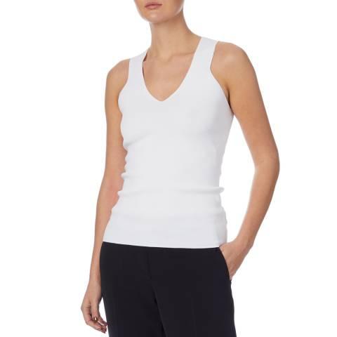 Reiss White Sophia Knitted Vest Top