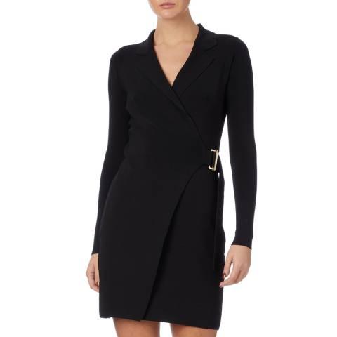 Reiss Black Brianna Knitted Dress