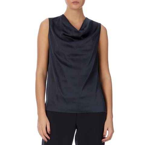 Reiss Petrol Lauren Satin Top