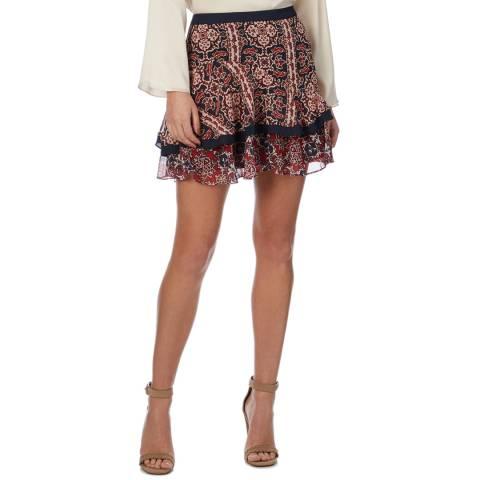 Reiss Multi Fabrice Flippy Skirt