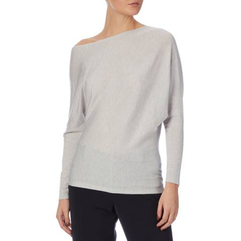 Reiss Pale Grey Tilley Wool Blend Jumper