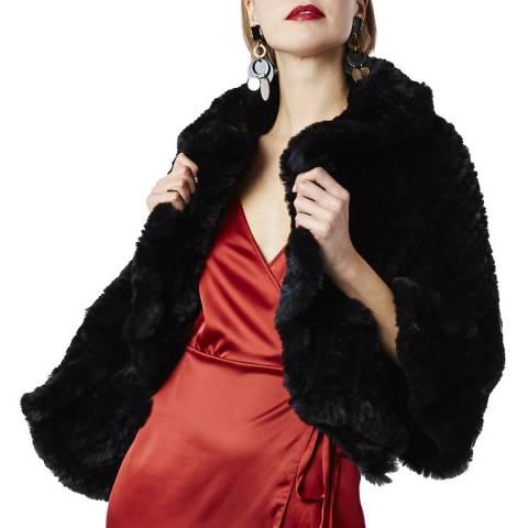 JayLey Collection Black Faux fur Wrap