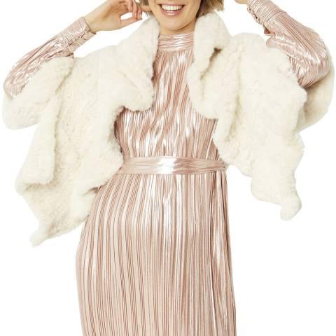 JayLey Collection Cream Faux Fur Wrap