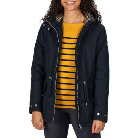 Regatta Navy Brigid Waterproof Hooded Jacket