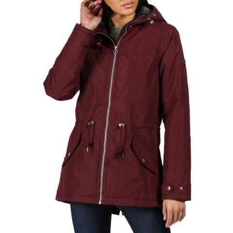 Regatta Dark Burgundy Brigid Waterproof Hooded Jacket