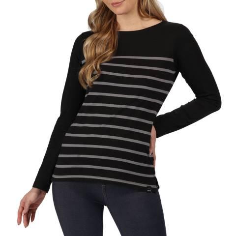 Regatta Black Ferelith Long Sleeved T-Shirt