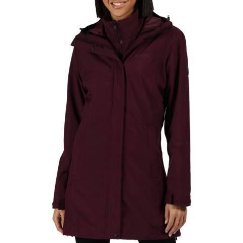 Regatta Prune Denbury 3 In 1 Waterproof Hooded Walking Jacket