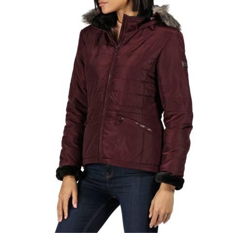 Regatta Dark Burgundy Westlynn Hooded Jacket