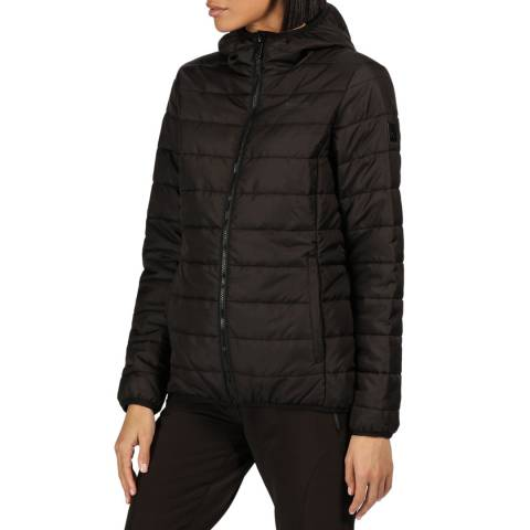 Regatta Black Helfa Insulated Quilted Hooded Walking Jacket