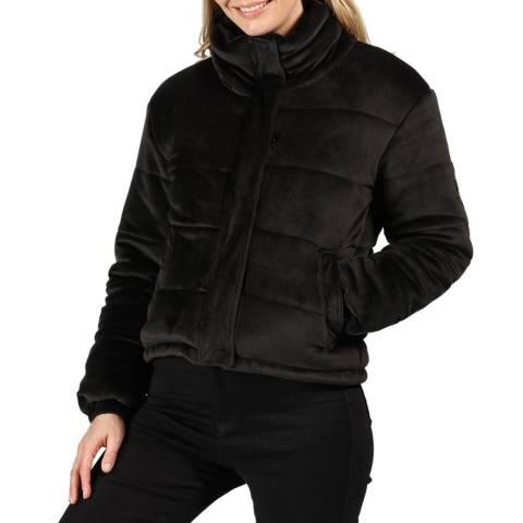 Regatta Black Elbury Insulated Quilted Velour Puffer Jacket