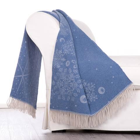 Lanerossi Bormio Throw 130 x 180cm, Blue