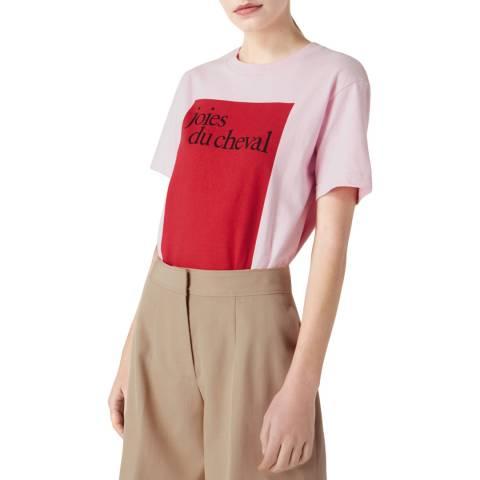 VICTORIA, VICTORIA BECKHAM Candy Pink Joies Du Cheval T-Shirt