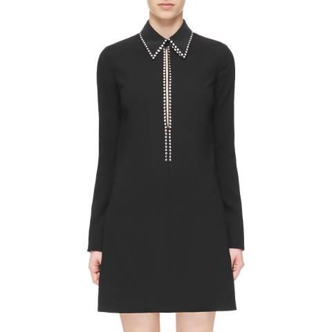 VICTORIA, VICTORIA BECKHAM Black Open Front Shift Dress