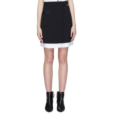 VICTORIA, VICTORIA BECKHAM Black Front Wrap Skirt