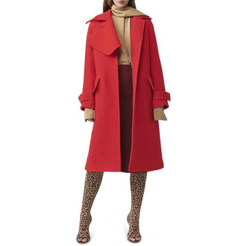 Victoria Beckham Candy Flared Wool Coat