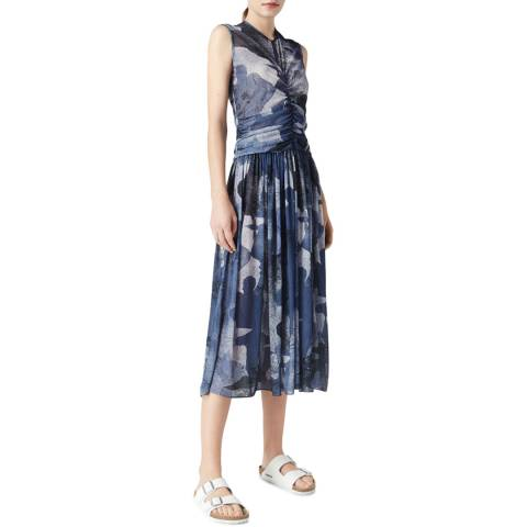 VICTORIA, VICTORIA BECKHAM Lady Silhouette Midnight Ruched Front Dress