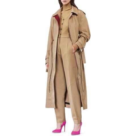 Victoria Beckham Camel Oversized Trench Coat