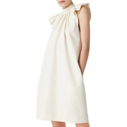 VICTORIA, VICTORIA BECKHAM RUCHED SHOULDER SLEEVLESS DRESS