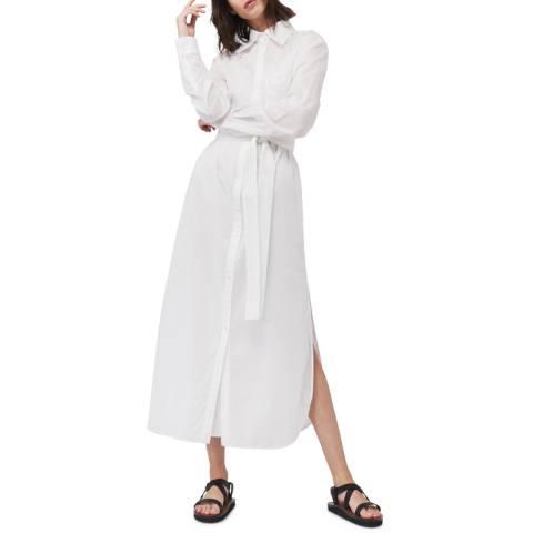 VICTORIA, VICTORIA BECKHAM White Long Shirt Dress