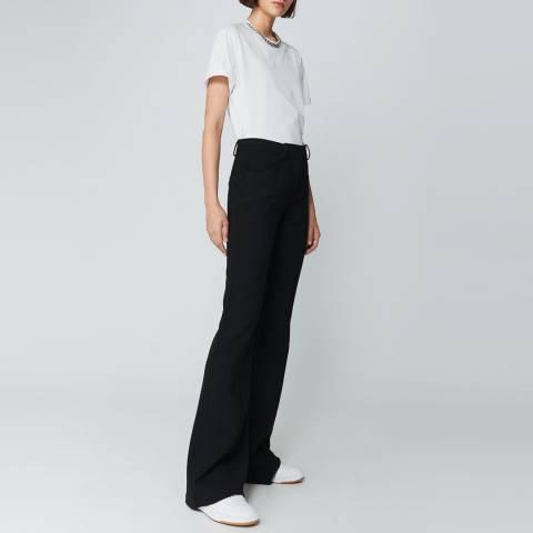 VICTORIA, VICTORIA BECKHAM Black Front Seam Wool Trousers
