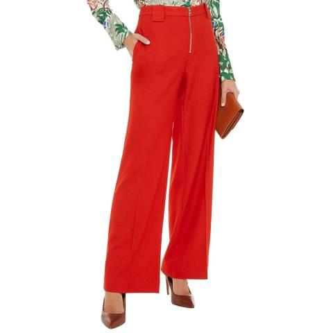 VICTORIA, VICTORIA BECKHAM Paprika Front Zip Trousers