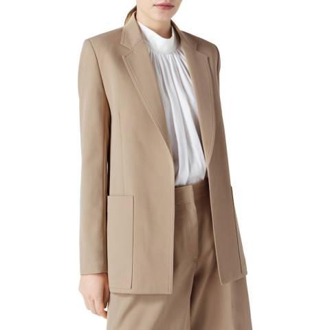 VICTORIA, VICTORIA BECKHAM Camel Oversized Wool Jacket