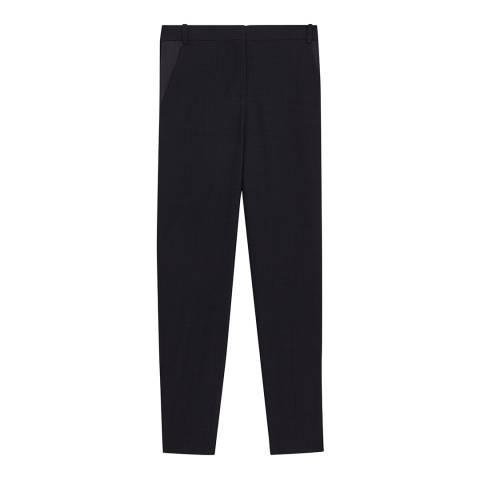 VICTORIA, VICTORIA BECKHAM Midnight Satin Pocket Trousers