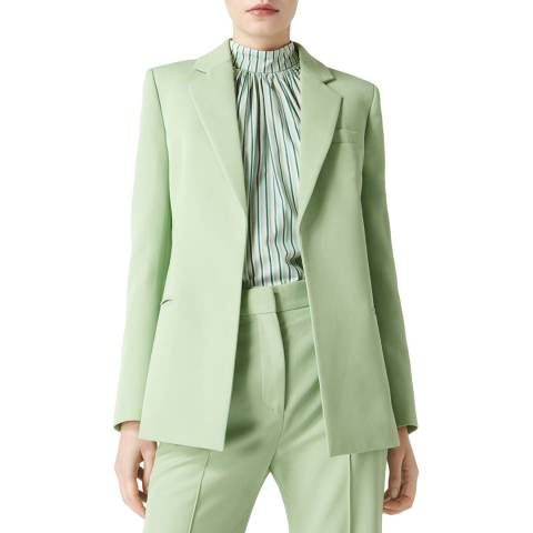 VICTORIA, VICTORIA BECKHAM Pistachio Fitted Tailored Wool Jacket