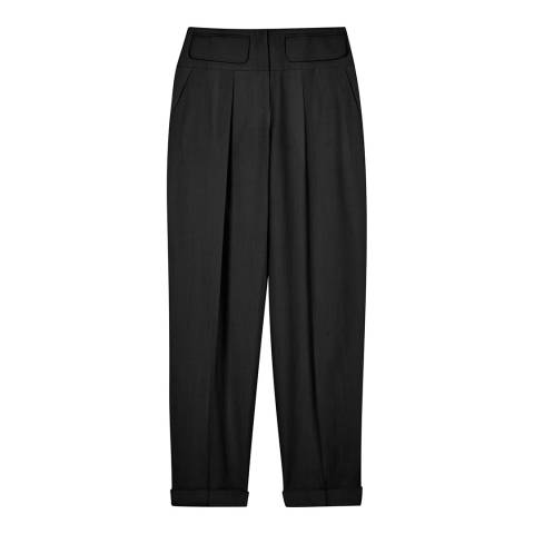 VICTORIA, VICTORIA BECKHAM Black Relaxed Fit Trousers